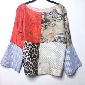 Anthropologie Tops - L.P.O. by Laurence Maheo Julie Patchwork Blouse
